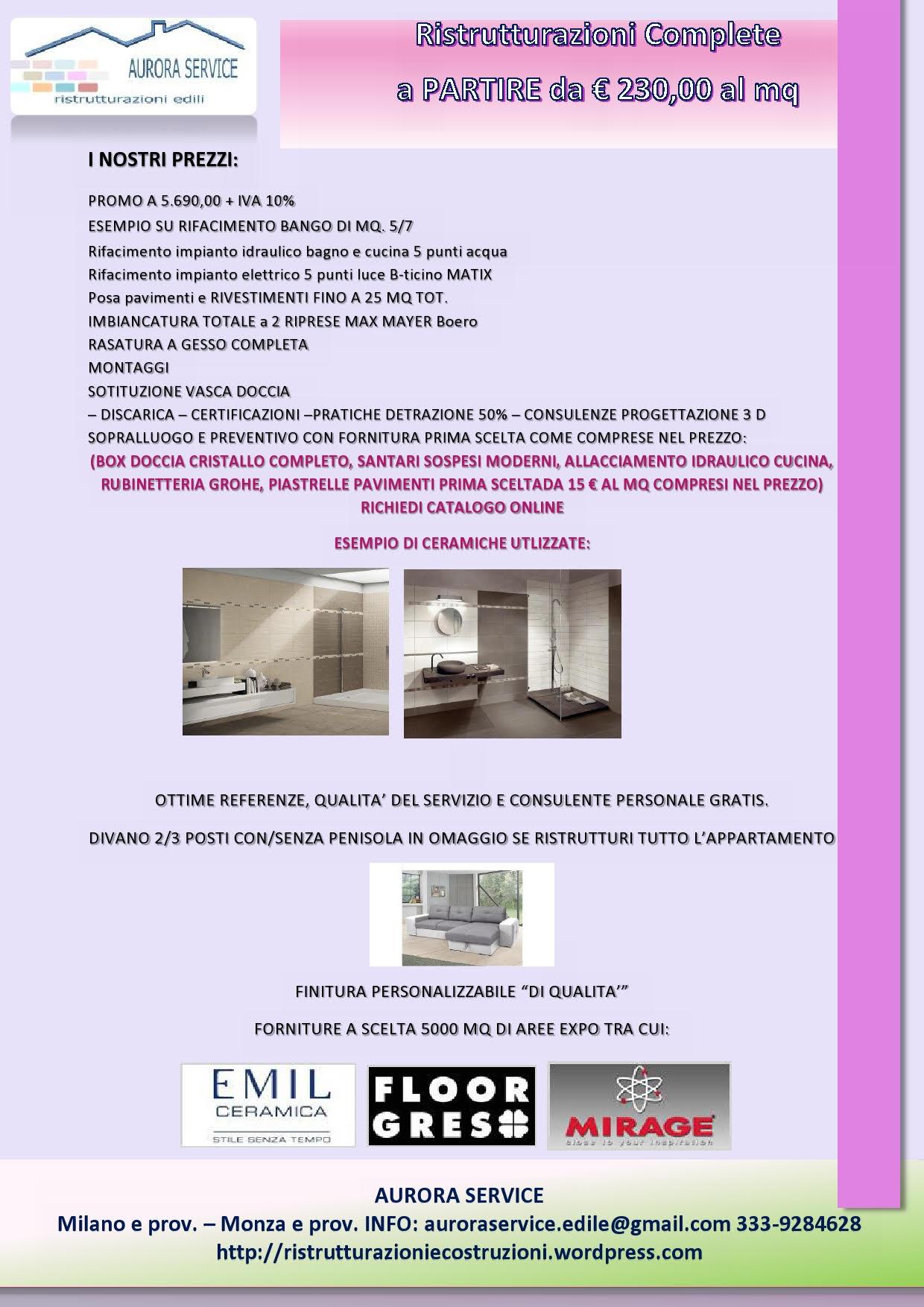 Rifare il bagno promozione ristrutturazioni milano prezzi da ingrosso - Rifare il bagno low cost ...